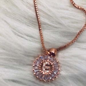 Initial rose gold necklace